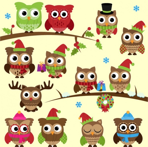 Christmas Cartoon Characters Clipart