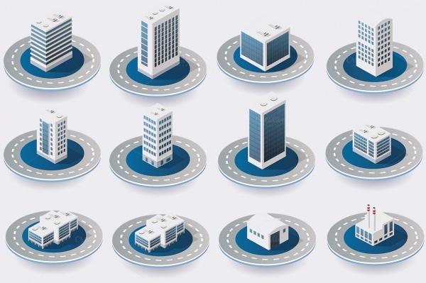 City Isometric Icons
