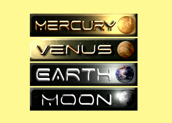 Clip Art Signs of Solar System