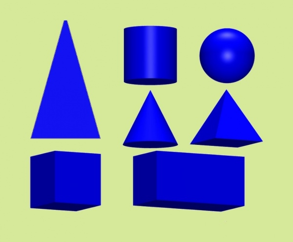 Clip Art of 2D and 3D Geometric Shapes