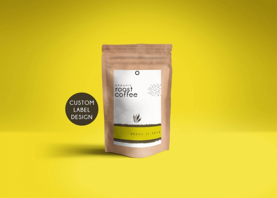 Coffee Package on Dark Background