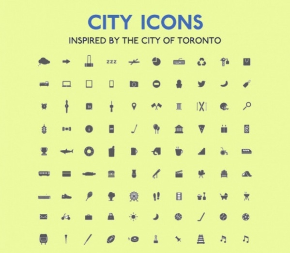 Collection Of City Icons