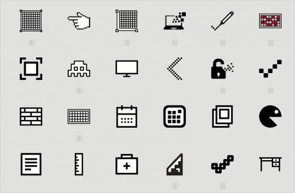 Collection Of Pixel Icons