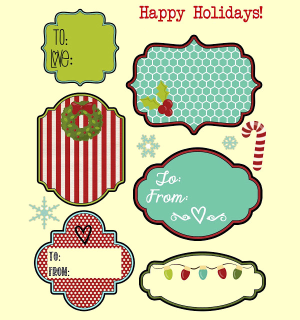 Collection of New Year Gift Tags