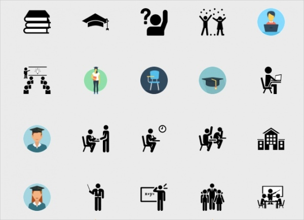 Collection of Student Icon Design