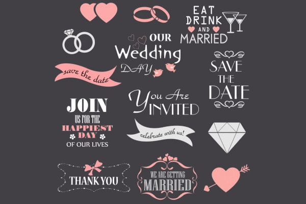 Collection of Wedding Design Clipart