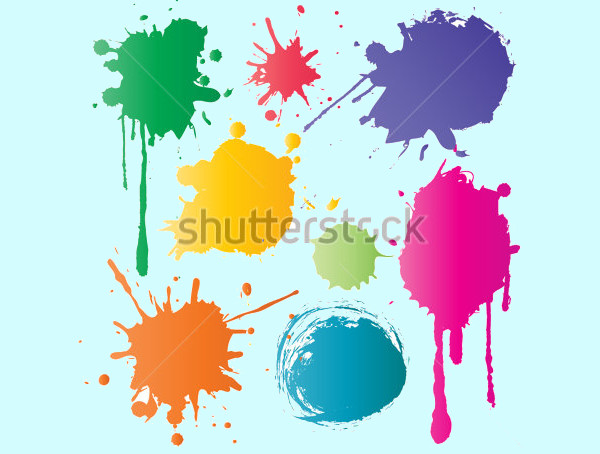 Colored Ink Splatter Vector