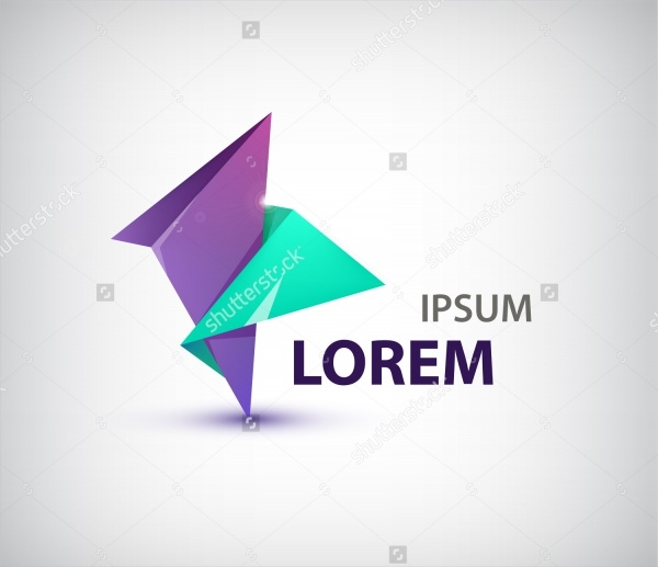 Colorful Origami Animated Logo