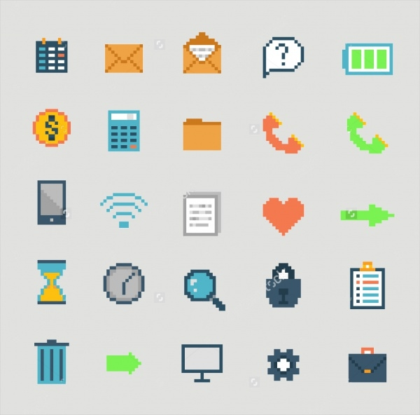 Colorful Pixel Icons