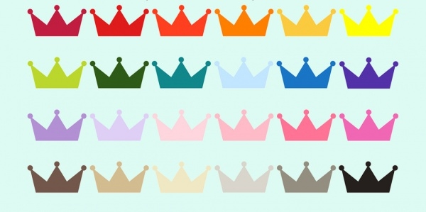 Colorful Rainbow Princess Clipart Design