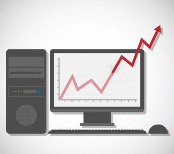 Computer Statistics Chart Vector