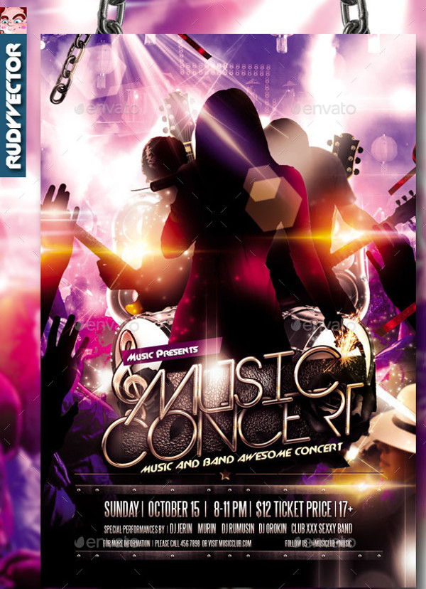 Concert Music Band Flyer
