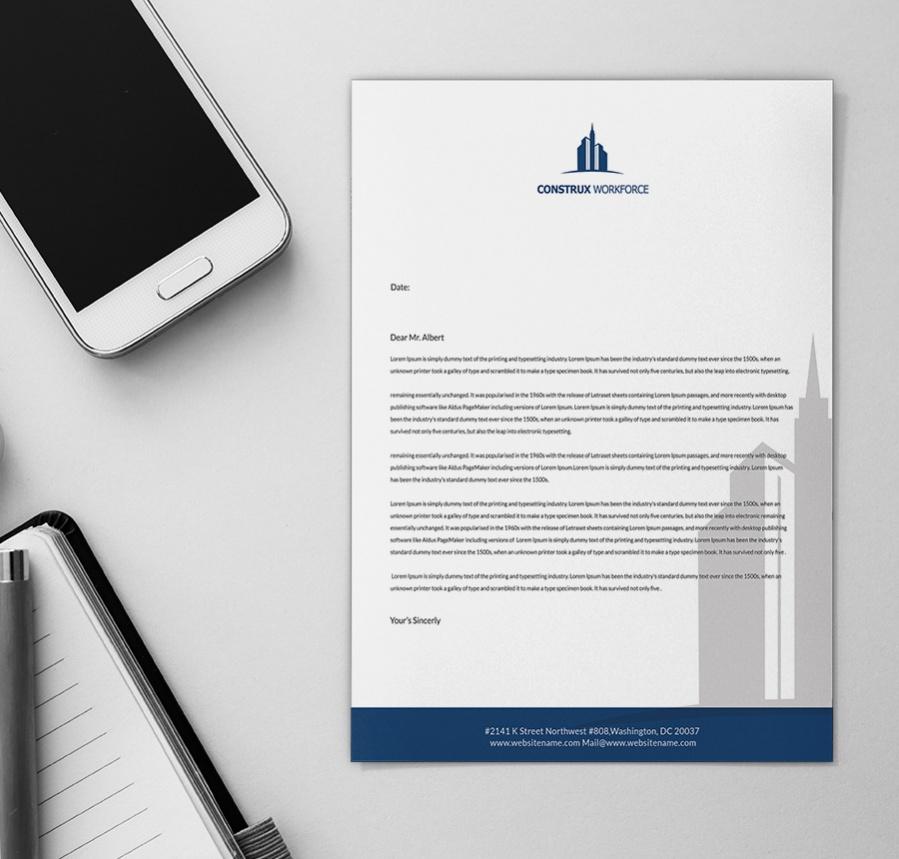 contemporary architecture letterhead template1