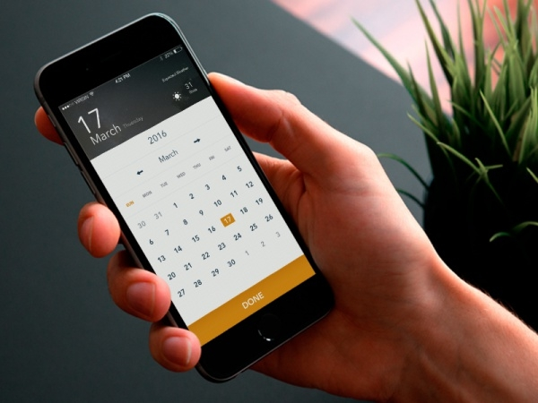 Convention Mobile calendar App