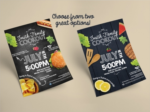 Cookout Invitation Flyer