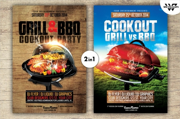 Cookout PSD Flyer for Party