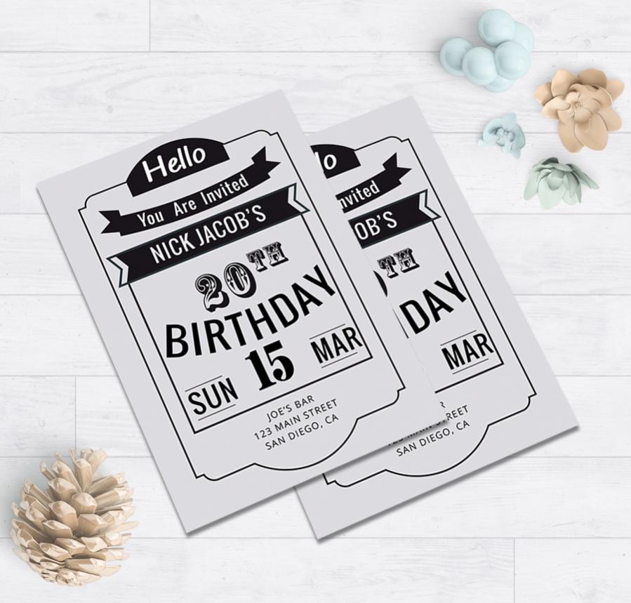 creative birthday party invitation