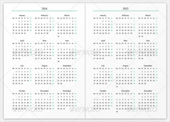Creative Calendar Planner Template