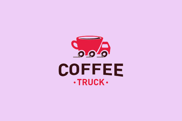 Creative Coffee Truck Logo