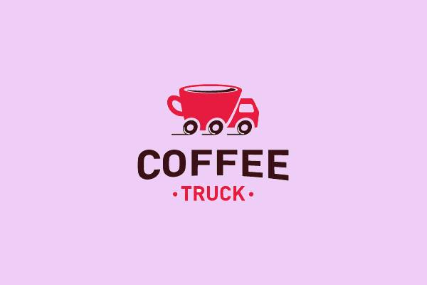 Creative Coffee Truck Logo