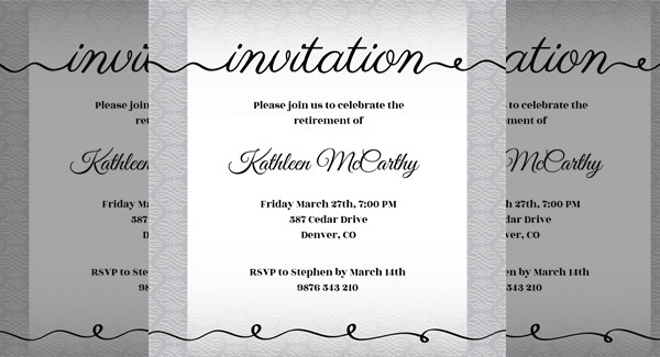 Creative Cursive - Printable Party Invitation