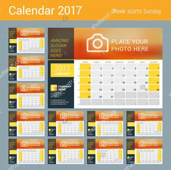 Creative Design for Yearly Calendar