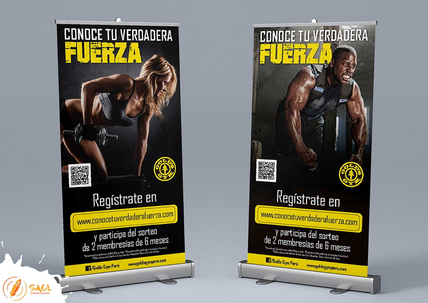 creative fitness gym banners