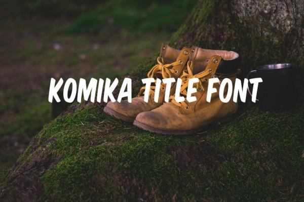 Creative Komika Title Font