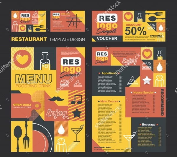 Creative Menu Card Design