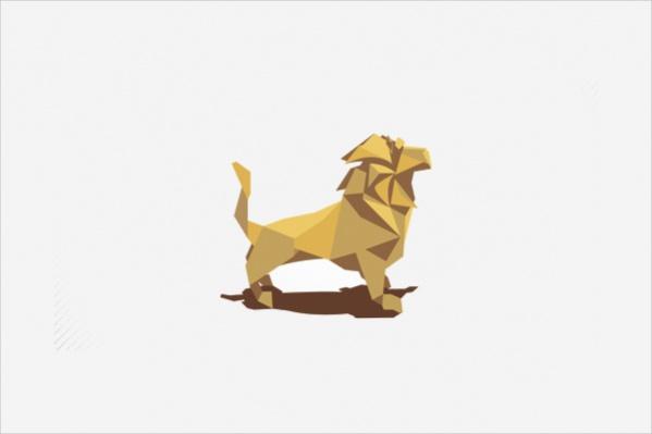 Creative Origami Lion logo