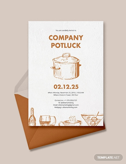creative potluck invitation