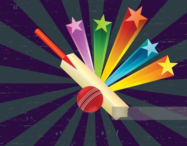 Cricket Star Burst Clipart