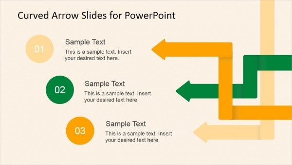 curved arrow slides for powerpoint template
