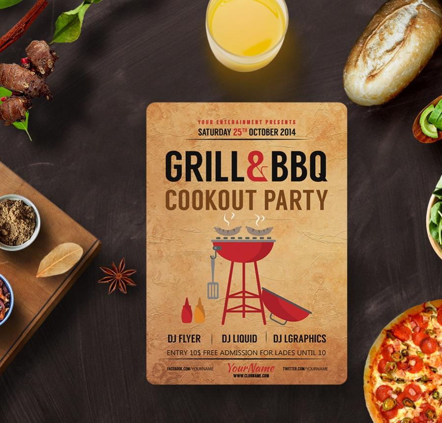 custom bbq party invitation