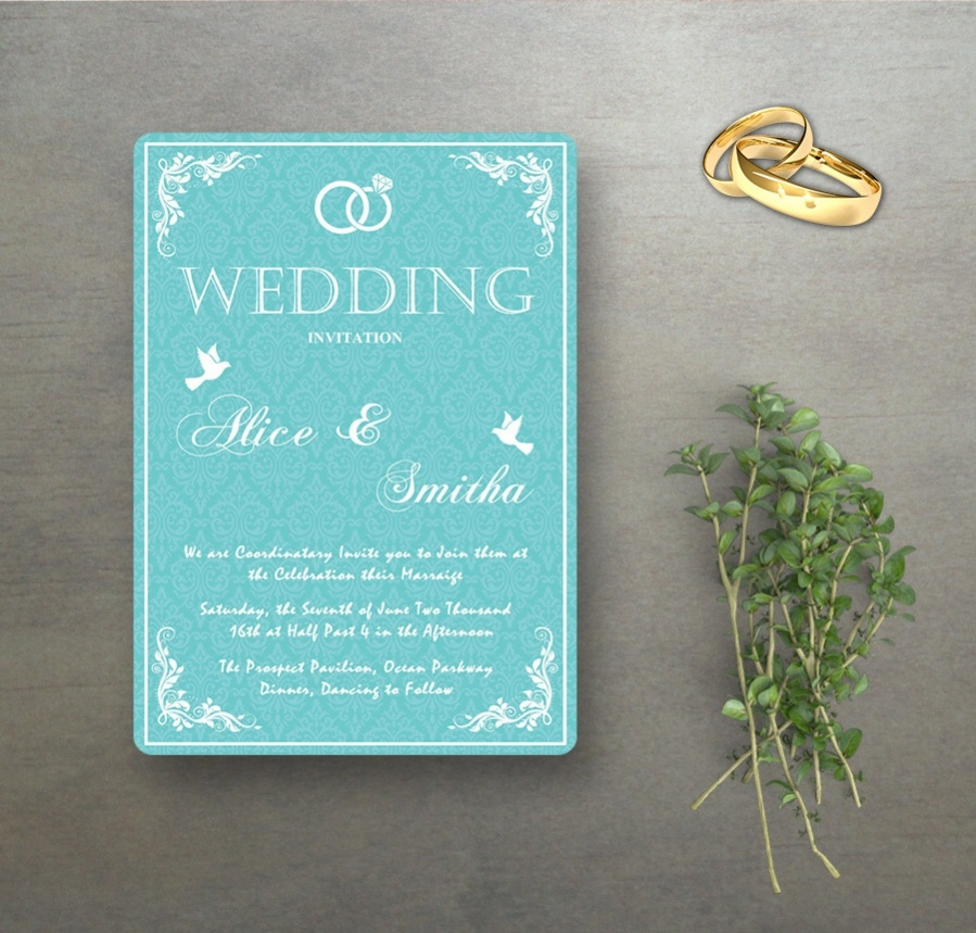 custom wedding celebration template