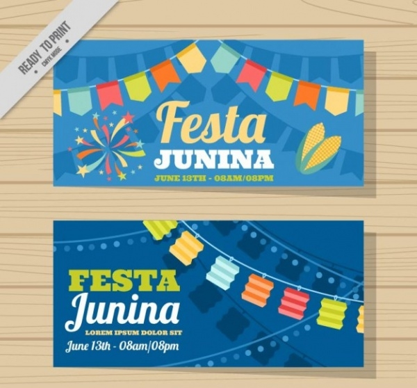 Cute Festa Junina Banners