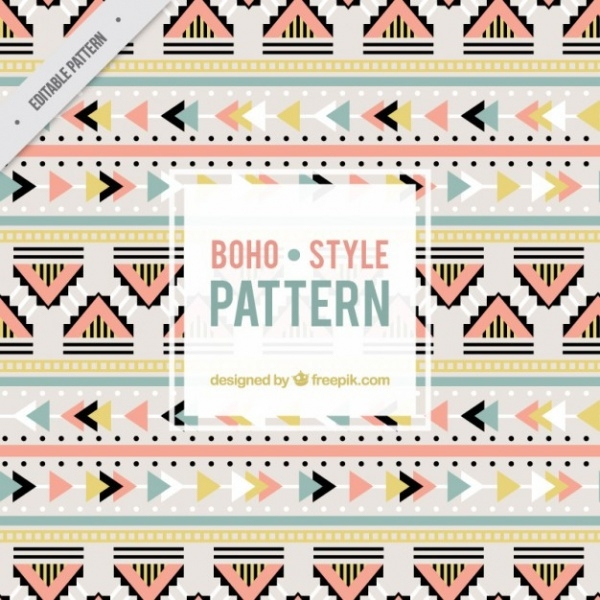 Cute colors boho pattern
