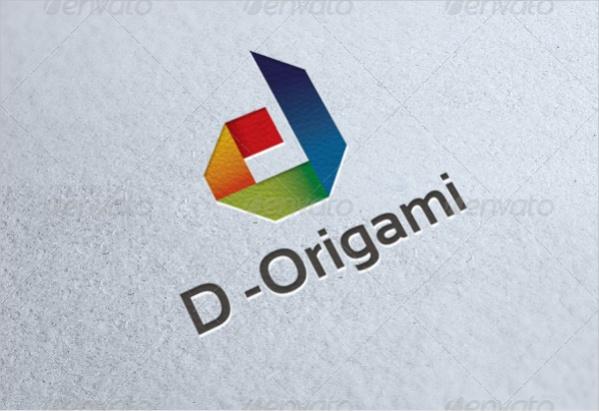 D Origami Letter Logo