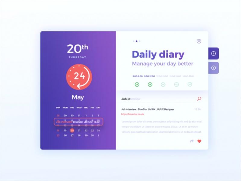 Daily Celebration Calendar Design