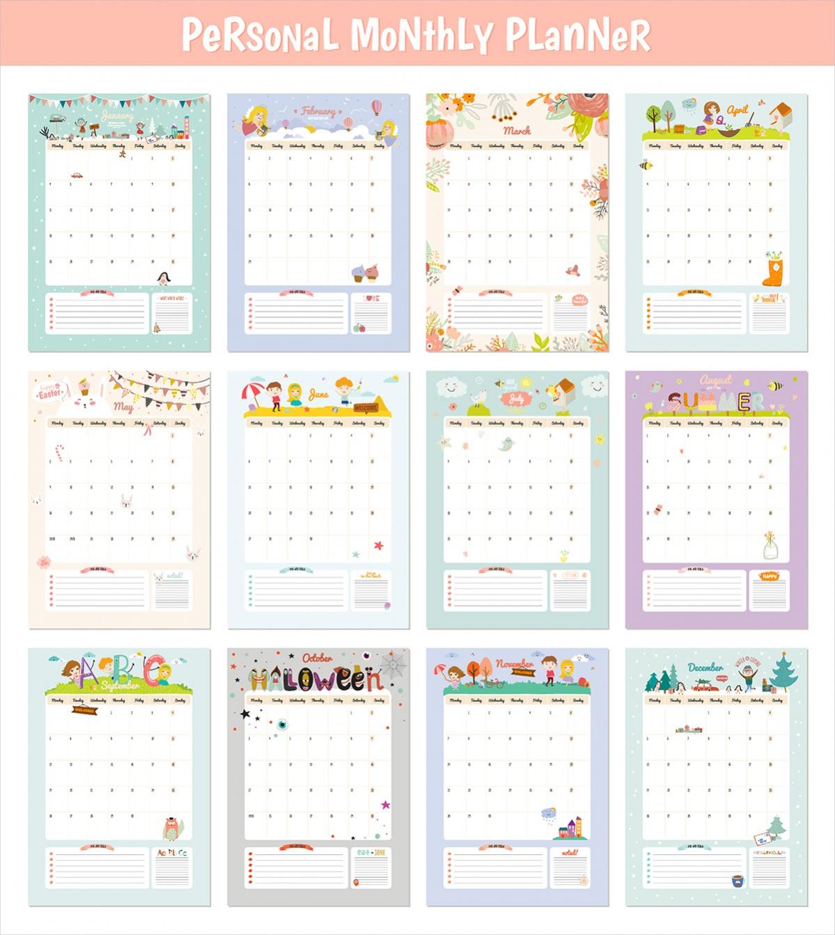 Daily Schedule Planner Calendar