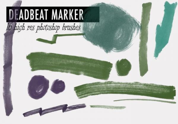 Deadbeat Photoshop Marker Brushes