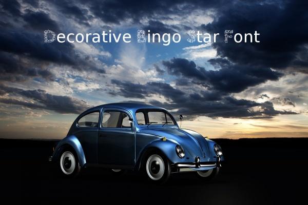 Decorative Bingo Star Font