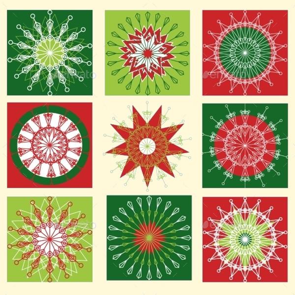 Decorative Snowflake Vector Set