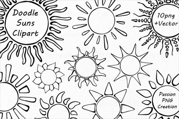 Doodles Sun Graphic Clip Art