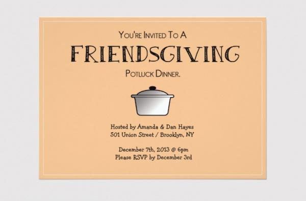 Download Friendsgiving Invitation Design