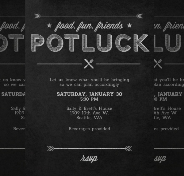Download Potluck Invitation Designs