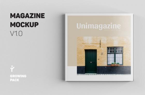 Download Square Magazine Mock-up