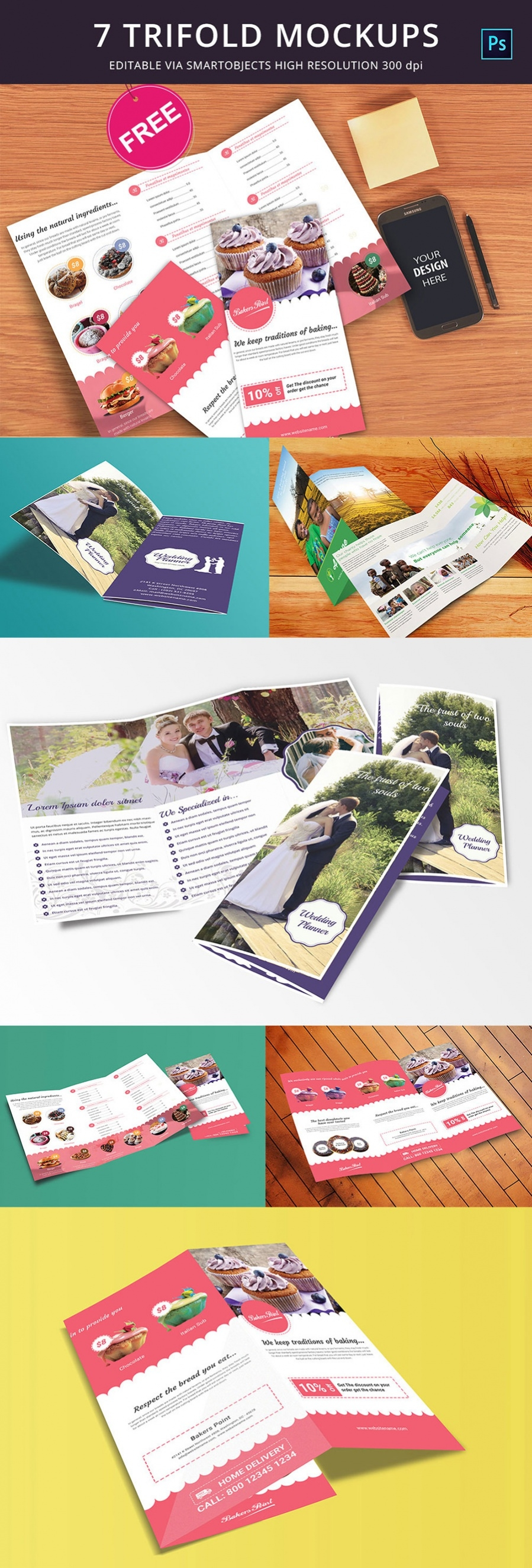 downloadable free trifold mockup
