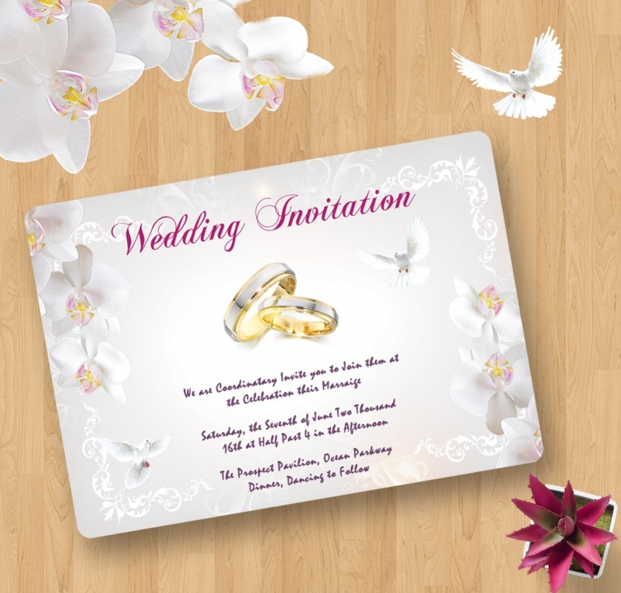 downloadable wedding invitation for free