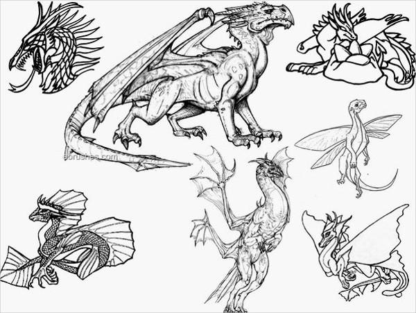 Dragon Photoshop Free Brushes